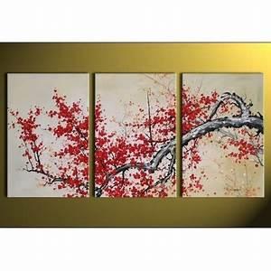Tableau Triptyque Moderne : peinture japonaise moderne sur toile achat vente tableau deco pas cher ~ Teatrodelosmanantiales.com Idées de Décoration
