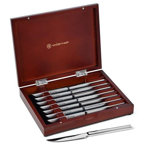 wusthof steak knives set    stainless steel  case cutlery