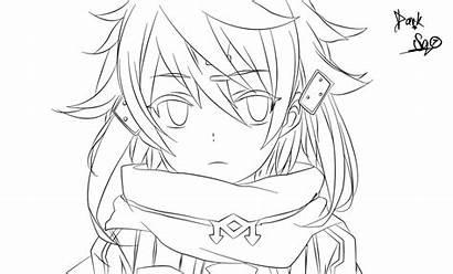 Sword Sao Sinon Coloring Lineart Deviantart Asuna
