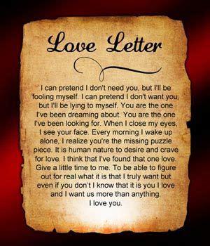 sad love letters    love love letters