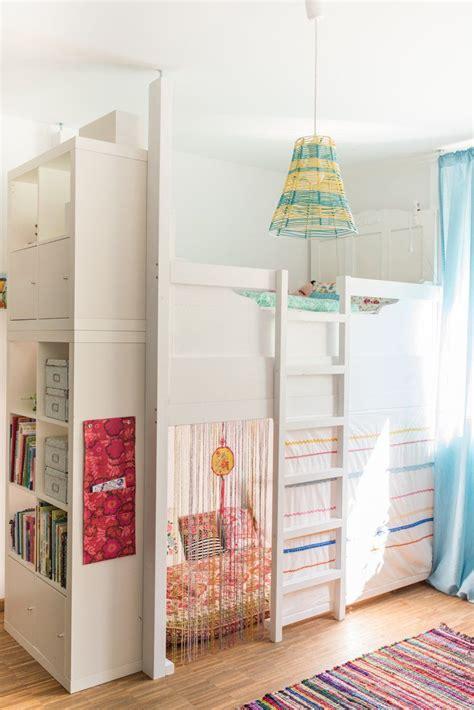 Kinderzimmer Mädchen Sale by Ein Selbst Gebautes Hochbett Im Kinderzimmer