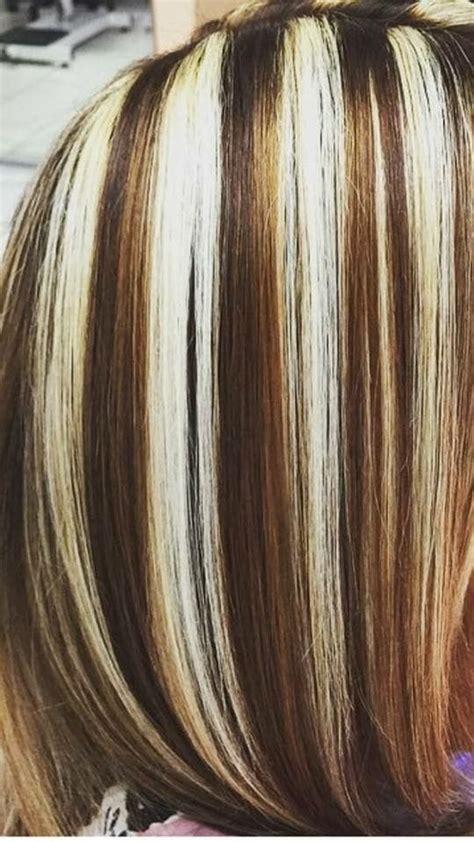 pin  yolis mtz  chunky highlights frosted hair red blonde hair blonde highlights  dark