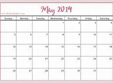 May 2019 Printable Calendars Fresh Calendars
