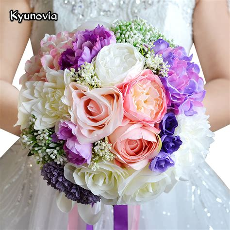 Wedding Flowers by Wedding Bouquet Mixed Colors Brooch Bouquet