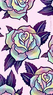 Psychedelic Rose Phone Wallpaper - Free Digital Download ...