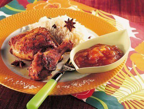 cuisiner cuisse de dinde au four cuisses de poulet à la tahitienne avec riz coco recette