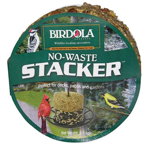 birdola stackers no waste bird seed cake 6 5 oz at menards 174