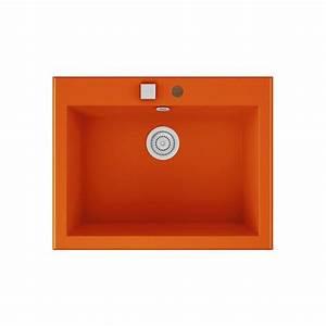 Evier A Encastrer : evier encastrer meuble 70 cm 1 bac orange fusion ~ Melissatoandfro.com Idées de Décoration