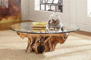 tree root glass top coffee table hidden treasures by With tree stump coffee table with glass top