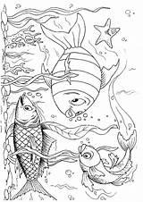 Fun Fish Coloring sketch template