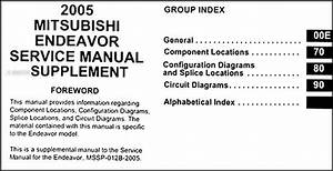 2005 Mitsubishi Endeavor Wiring Diagram Manual Original