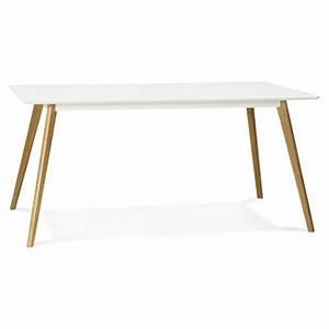 Table A Manger Rectangulaire : table manger style scandinave rectangulaire orge en bois blanc ~ Teatrodelosmanantiales.com Idées de Décoration
