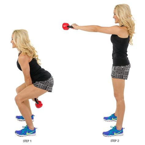 Kettle Swing Exercise by Kettlebell Two Arm Swing