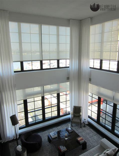 living room automated system modern living room  york  ny window fashion