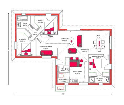 plan maison plein pied moderne 17 best ideas about maison moderne plain pied on plan maison plein pied maison