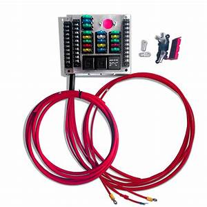 Universal Car Replacement Fuse Box With 18 Fuses