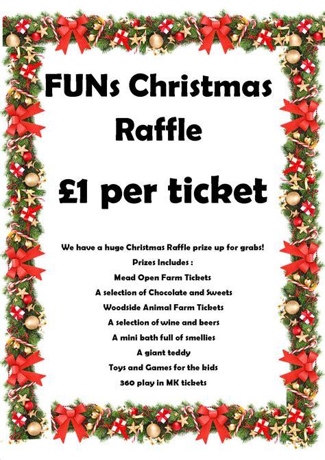 funs christmas raffle prize draw families united network