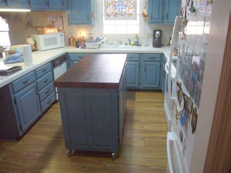 fivebraids custom woodworking blue butcher block kitchen