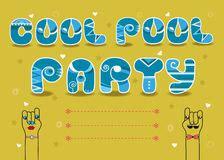 pool party invitation card stock photo image