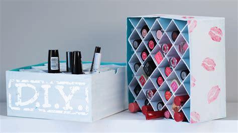 boite de rangement pour vernis diy makeup aufbewahrung lippenstift box deko