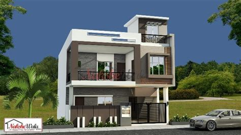 contemporary house elevation  duplex house elevation sqft double storey home