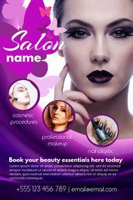 design  beauty salon flyers postermywall