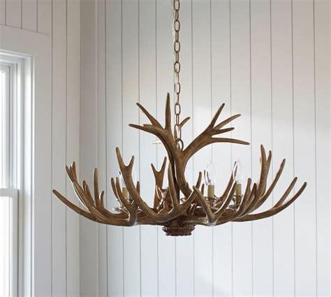 pottery barn antler chandelier faux antler chandelier pottery barn