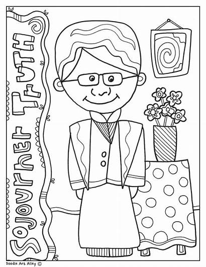Coloring Truth Sojourner History Month Pages Printable