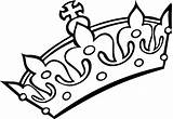 Crown Coloring King Pages Crowns Queen Princess Simple Prince Kings Royal Drawing Clipart Colouring Template Tiara Line Clip Printable Clipartmag sketch template