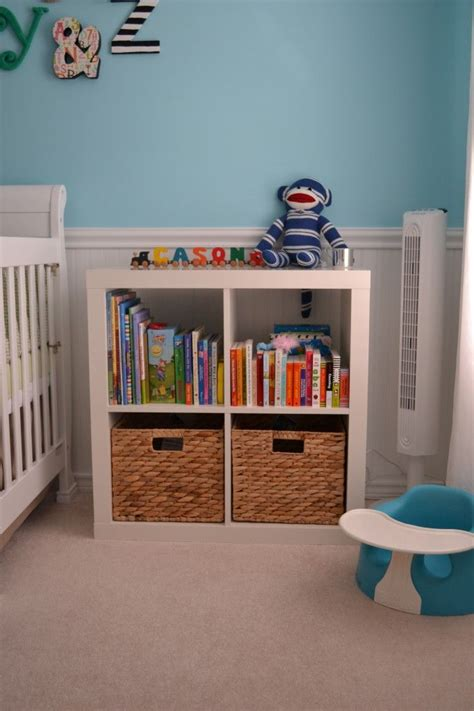 nursery bookshelf ideas  pinterest baby