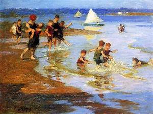 Edward Henry Potthast Children at Play on the Beach ...