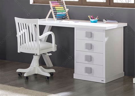bureaux enfants bureau l 150 cm avec caisson 4 tiroirs 16 couleurs ksl