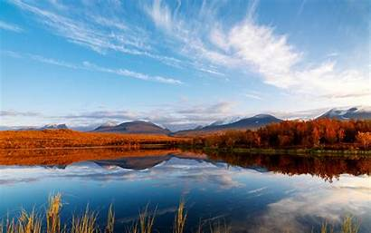 Autumn Clouds Reflection Wallpapers Wide