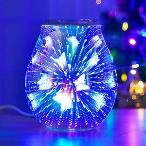 Electric Oil Warmer Glass Tart Burner With 3d Butterfly