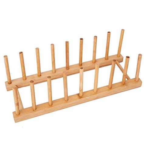 bamboo dish rack dishes drainboard drying drainer storage