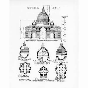 St Peter's Basilica, Rome: comparative plans and sections ...