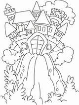 Coloring Pages Castle Fairy Colouring Princess Tale Hill Knights Boys sketch template