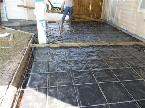 poured concrete patio ideas concrete patio process