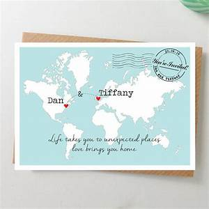 25 best ideas about postcard invitation on pinterest With maps for wedding invitations templates