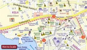 Antalya Tourist Plan Stanfords