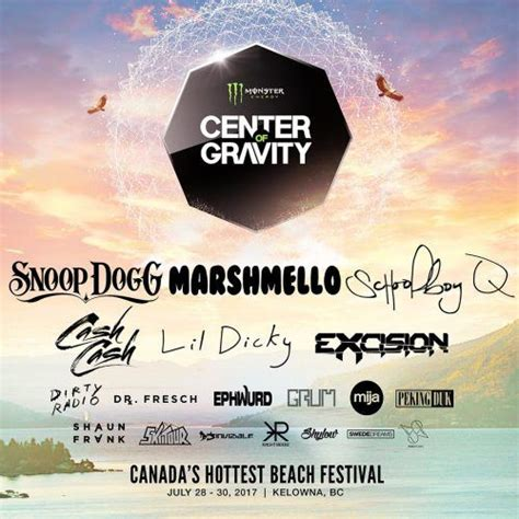 center  gravity  lineup announced  headliners