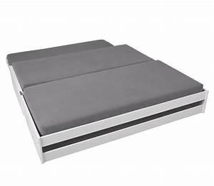 Bett Mit 2 Schlafgelegenheit : funktionsbett aus massiver kiefer mit drei schlafpl tzen 3 in 1 ~ Bigdaddyawards.com Haus und Dekorationen