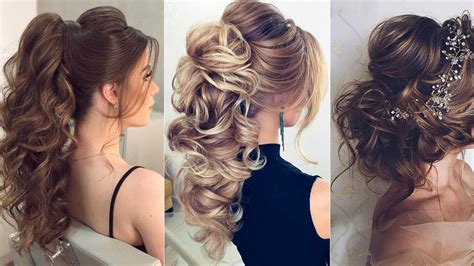 elegant prom hairstyles  long hair  compilation