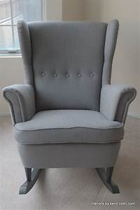 Ikea Ohrensessel Strandmon : ikea hack strandmon rocker diy wingback rocking chair beautiful runners and grey ~ Markanthonyermac.com Haus und Dekorationen