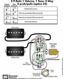 Seymour Duncan P-rails Wiring Diagram  Pull Pots In