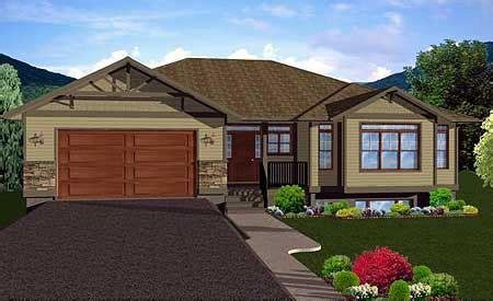 craftsman ranch home plan  finished basement mg st floor master suite butler walk