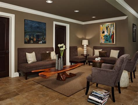 paint color kingsport grey lounge seating contemporary basement detroit by