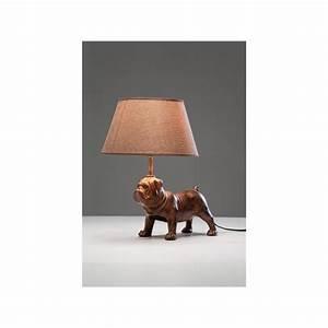 Kare Design Lampe : lampe de table chien marron mops kare design ~ Orissabook.com Haus und Dekorationen