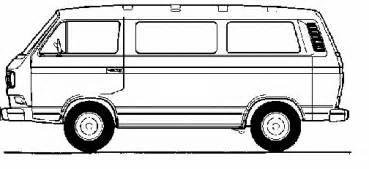 Volkswagen Bus Drawing  Volkswagen  Circuit Diagrams  Bus Drawing