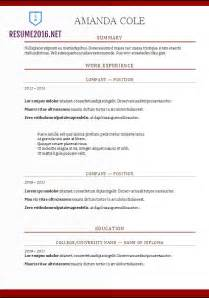 best resume templates 2017 2018 resume format 2017 20 free word templates